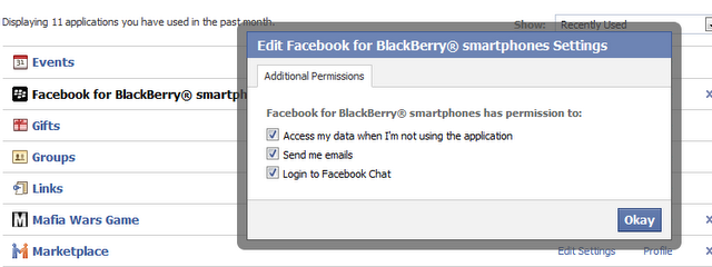 Chat Facebook para blackberry y otros smartphone