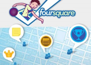 Logo de la red social Foursquare