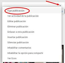Fijar publicación en Google Plus