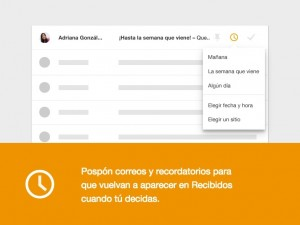 Posponer emails en Inbox